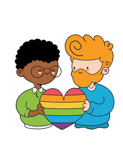 Cute male Couple Card