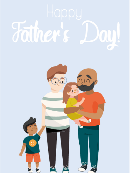 Two Dad Family Card