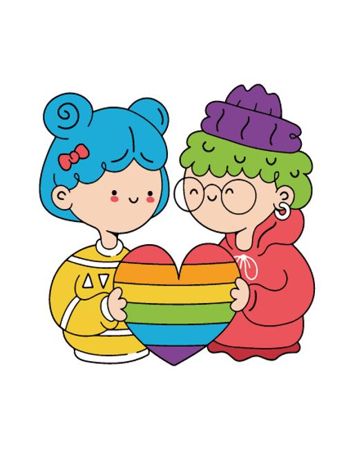 Funky female Couple Card