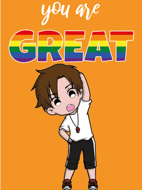 You're Great LGBTQ+ Trainer Card