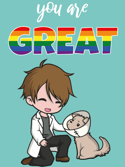 You're Great LGBTQ+ Male Vet Card