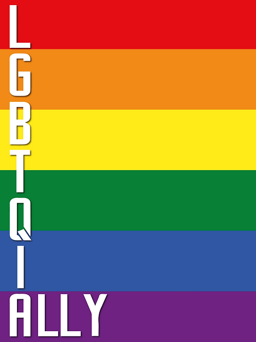 LGBTQIA Rainbow Ally Card