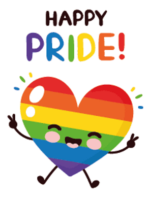 Happy Pride Heart Card