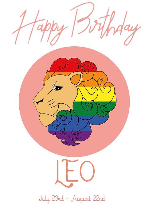 Leo Horoscope Card