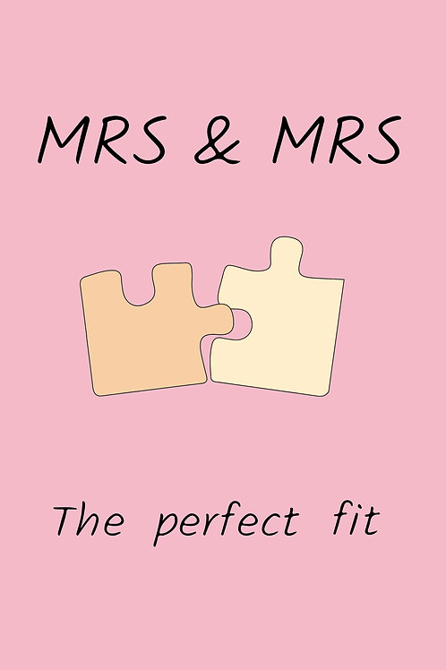 Mrs & Mrs Wedding Puzzle