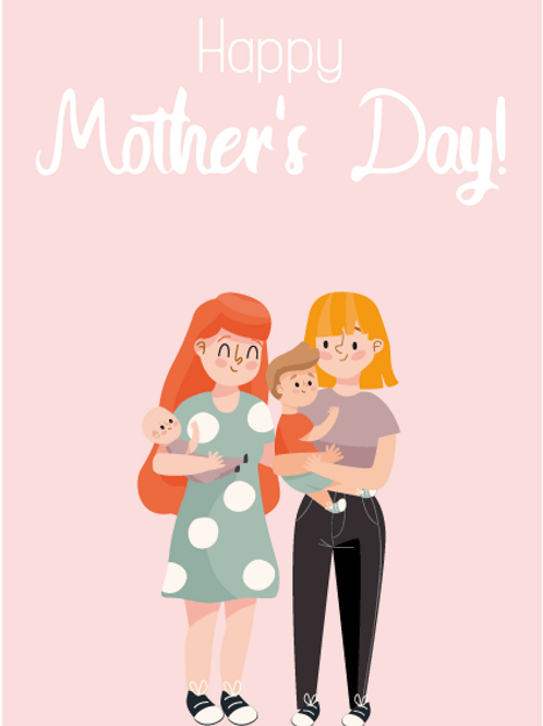 Two Mums Family Card