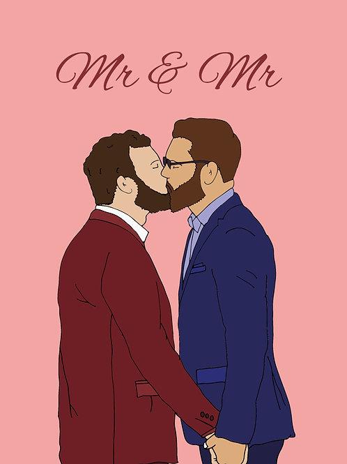 Married Men Kiss Card