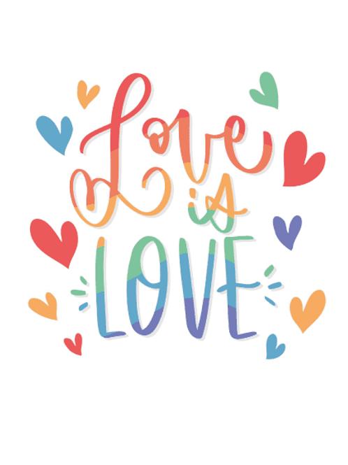 Love Is Love LGBT Card