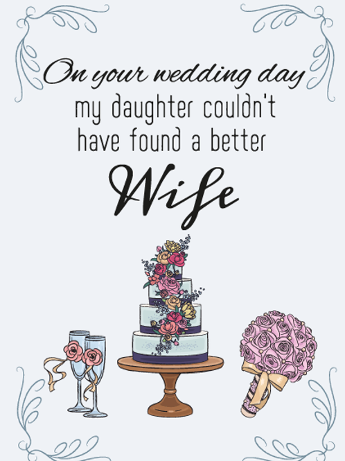 My Daughters Wife Card