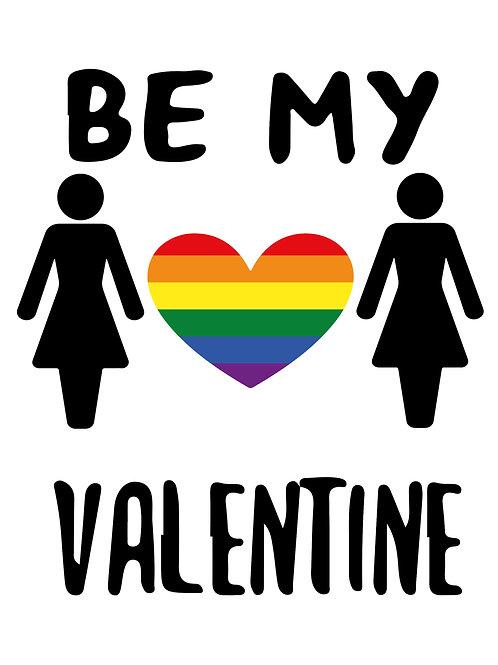 Stick Women Valentines Card