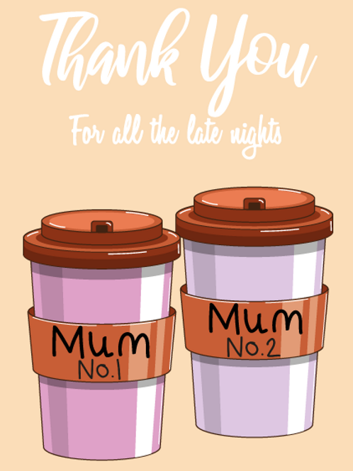 Two Mums Coffee Card