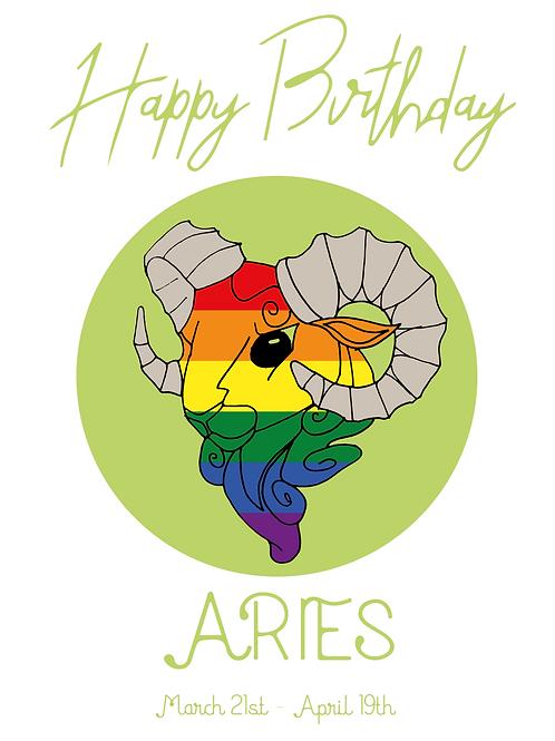 Aries Horoscope Card