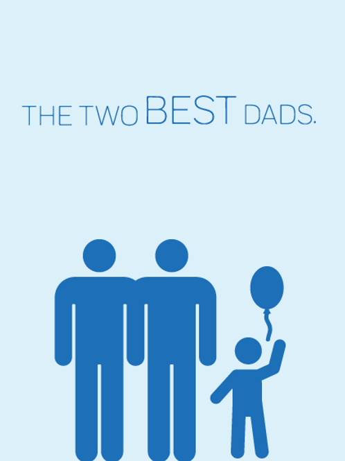 Two Best Dads Card