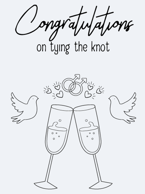 Mr & Mr Tying The Knot Card