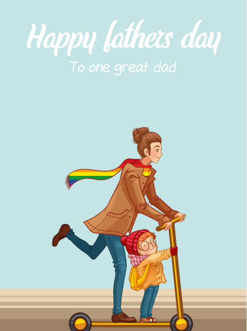 One Great Dad Father's Day Card