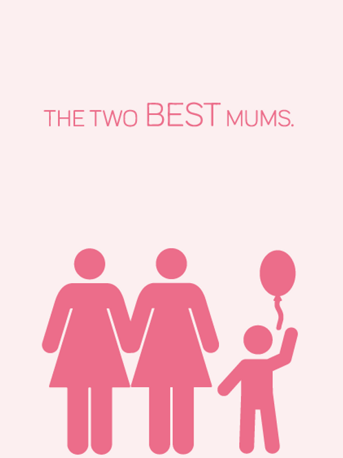 Two Best Mums Card