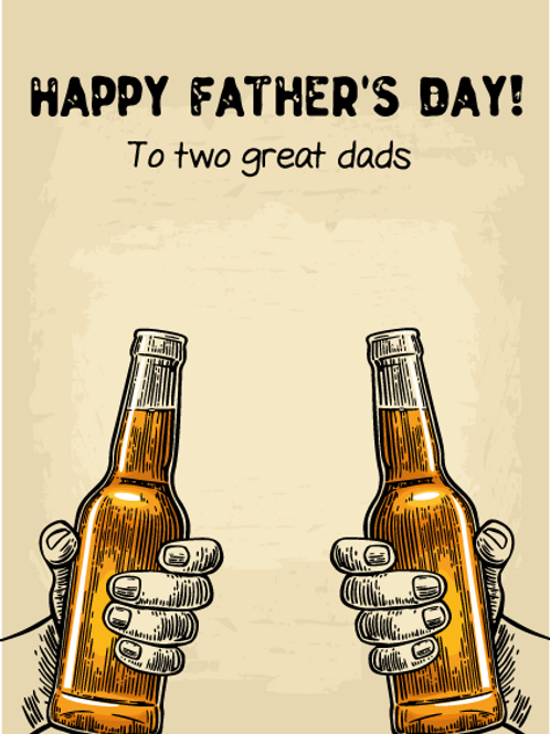 Two Beers, Two Dads Card