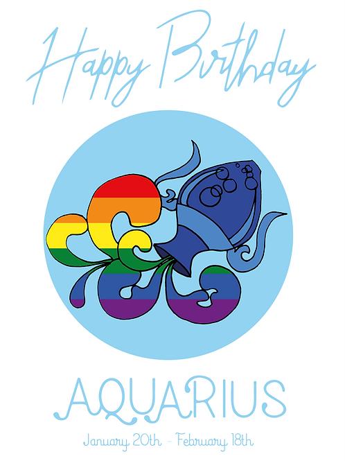 Aquarius Horoscope Card