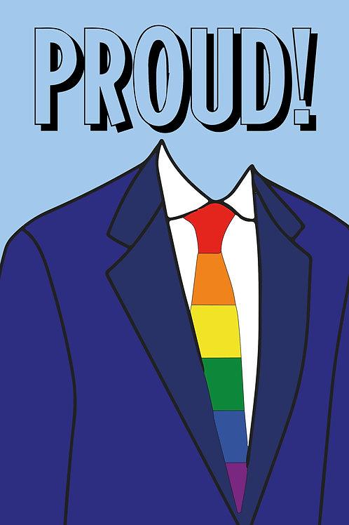 Proud Suit& Tie Card