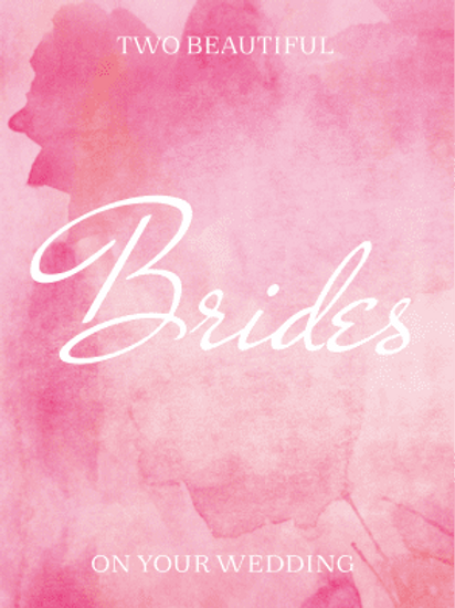 Two Beautiful Brides Card
