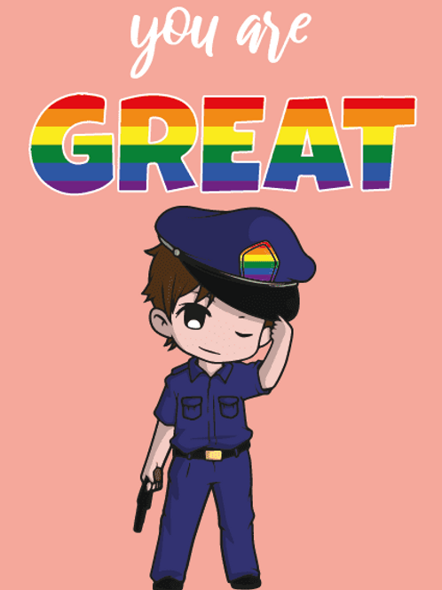 You're Great LGBTQ+ Policeman Card