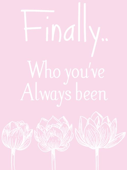 Finally Lotus Pink Card
