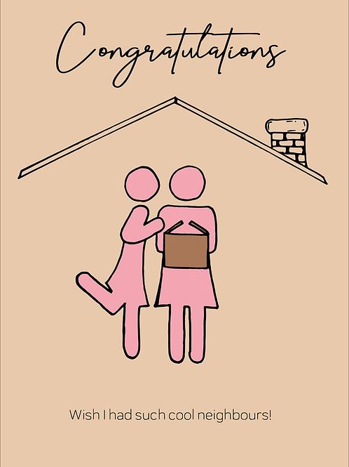 Cool Lesbian Neighbours Card