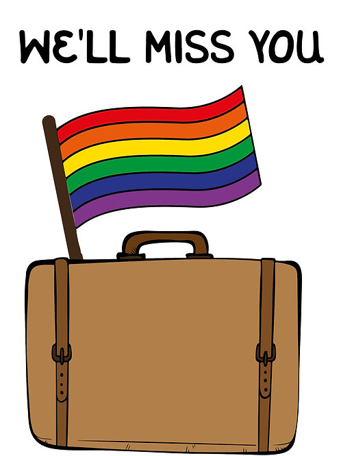 Gay Suitcase Travel Card
