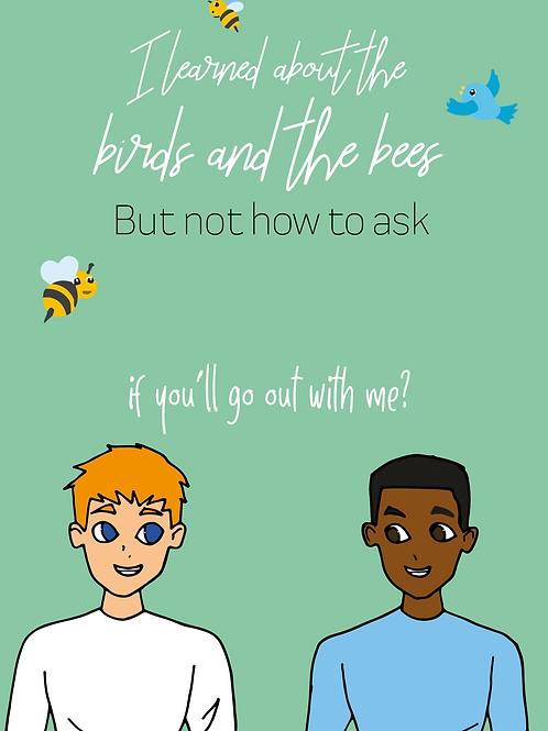 Birds & Bees Men Card 2