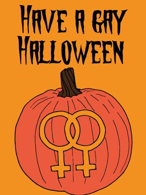 Gay Halloween Pumpkin