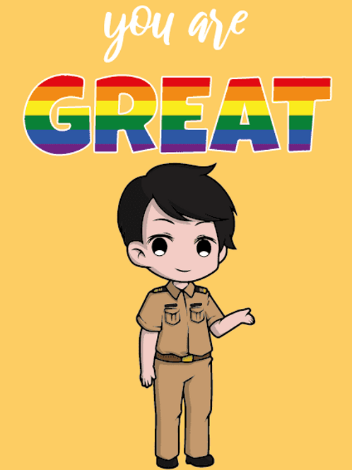 You're Great LGBTQ+ Male Official Card