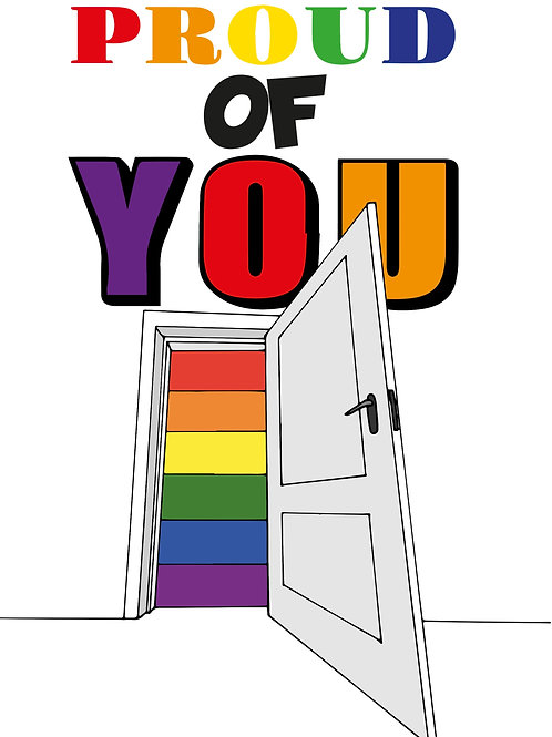 Coming Out The Closet Card