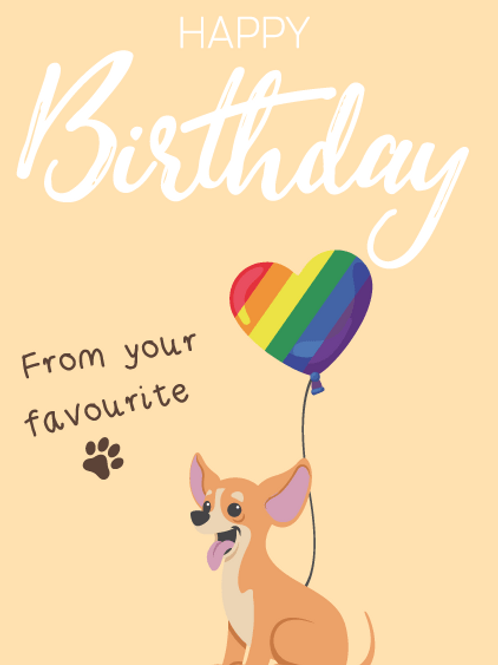 Chihuahua Dog Birthday Card