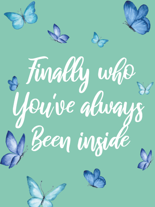 Butterfly Transitioning Card