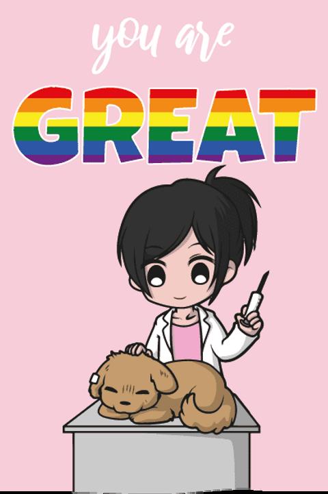 You're Great LGBTQ+ Female Vet Card