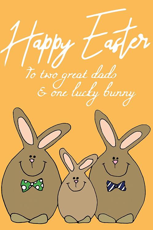 Dad Easter Bunnies Card