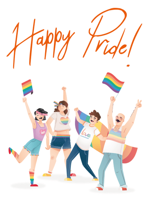 Happy Pride Group Card