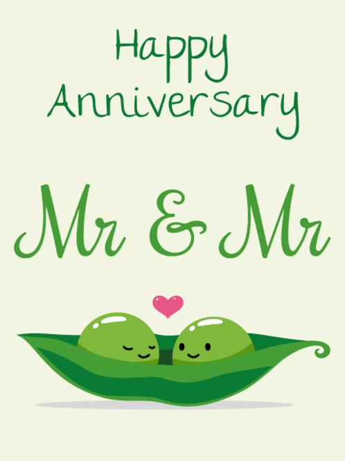 Mr Peas Anniversary Card