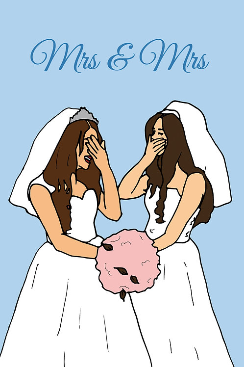 Married Women Kiss Card