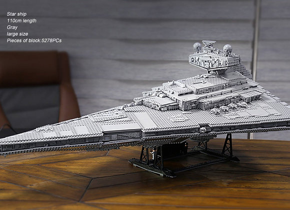 Star wars Imperial Star Destroyer lego model. 5278 pieces