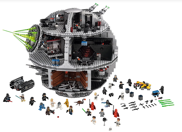 Death Star Lego model 4016 pieces. Comes with 23 iconic characters. Brand new