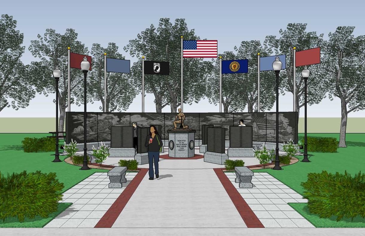 Memorial Front View