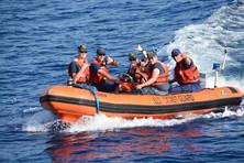 Cadets at Sea Practicing Harbor Patrol