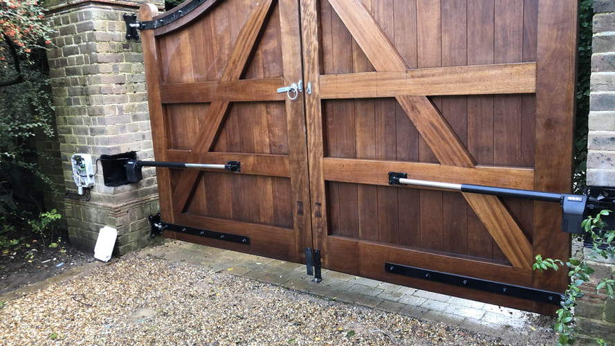 Swing Wooden Automated Gate