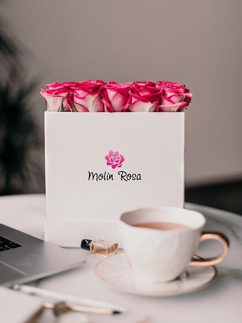 Rose in scatole - Rose rosa | Rose Box - pink roses