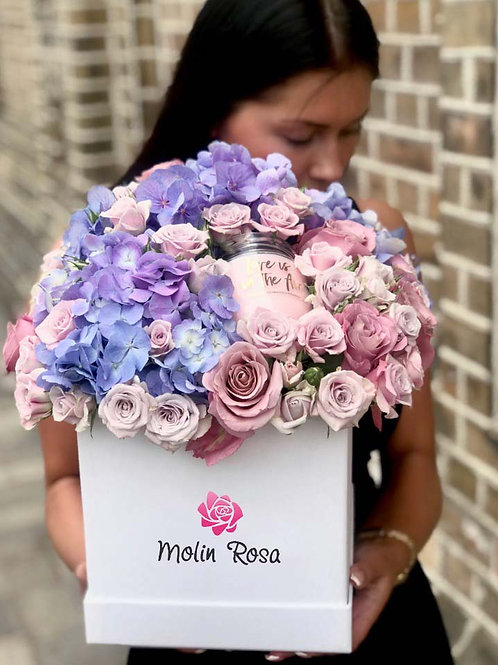 Rose in scatole - Rose Viola | Rose Box - Purple Roses