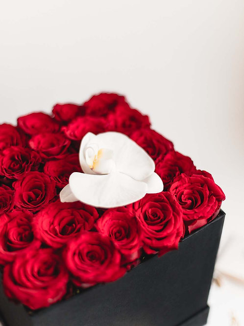Scatola di Rose - Rosse  | Rose Box - Red | Roses Box Milan