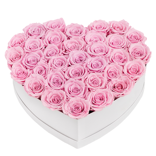 Rose stabilizzate Cuore | Stabilized roses Heart 35 pcs.