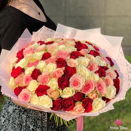 Rosa tre colori | Rose three colors | Fiorista Milano