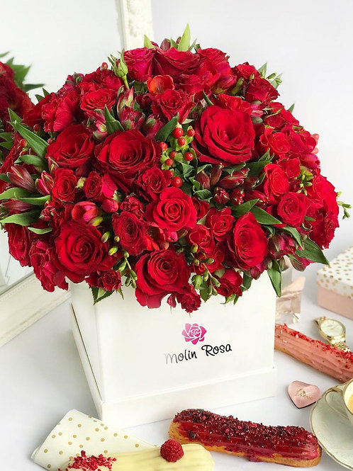 Rose in scatole - Rose rosse | Rose Box - red roses